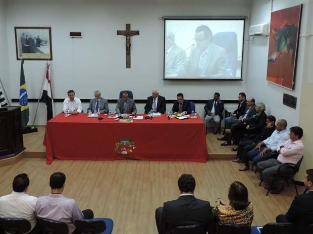 Audiência aconteceu nesta quinta-feira (17), na Câmara Municipal de Presidente Prudente (Foto: Ariane Viana/G1)