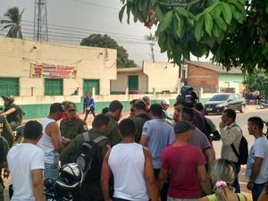 Subtenente da PM é assassinado com tiro na cabeça em Santarém (Foto: Andressa Azevedo/G1)