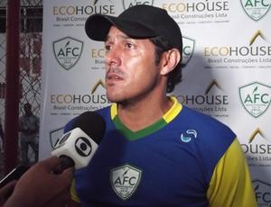 Maurílio Silva, técnico do Alecrim (Foto: Tiago Menezes/GLOBOESPORTE.COM)