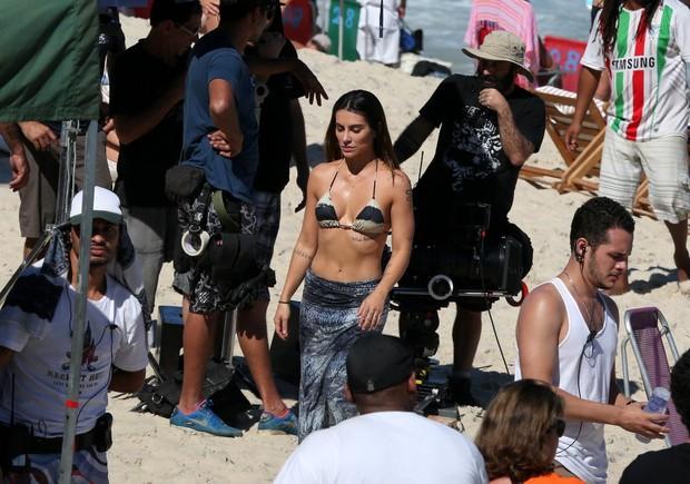 Cleo Pires em filmagem de Aldo - O Filme (Foto: André Freitas/AgNews)