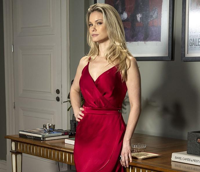 A personagem de Karen Junqueira, Jéssica, é namorada de Felipe (Marcos Pitombo) (Foto: Renato Rocha/Globo)