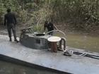 Transporte de submarino do tráfico para Belém é adiado por mau tempo