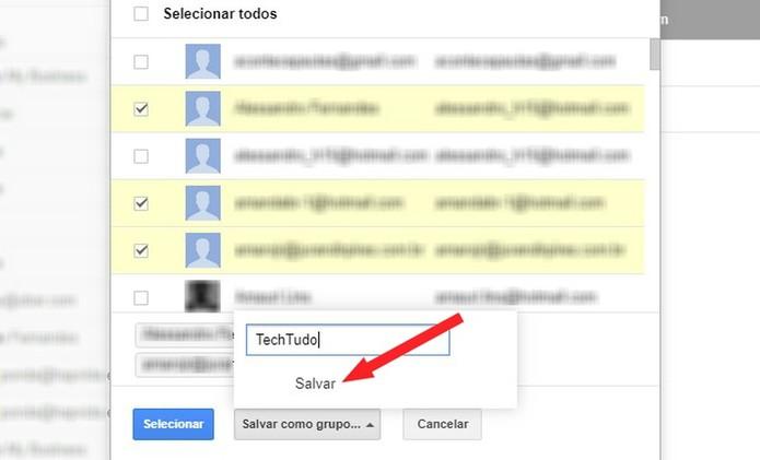 Dê um nome para seu grupo de contatos do Gmail (Foto: Reprodução/Rodrigo Fernandes)