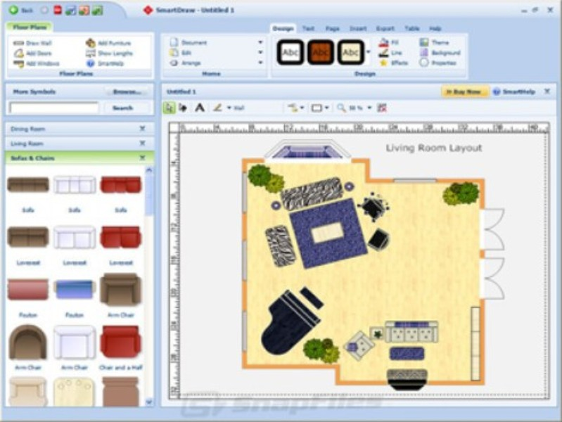 Smartdraw download techtudo for Furniture drawing software