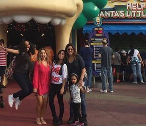 Daniela Mercury em viagem de família com as filhas  (Foto: Arquivo pessoal)
