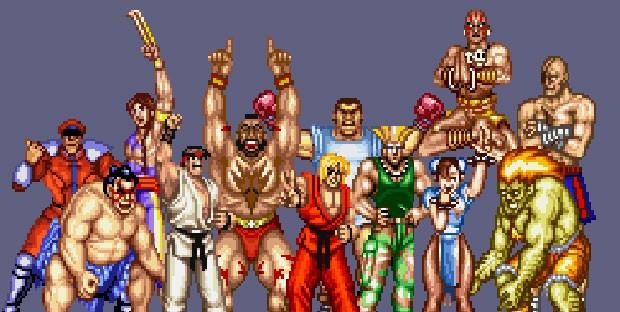 Imagem divulgada pela Capcom para comemorar os 25 anos da série 'Street Fighter' (Foto: Divulgação/Capcom)