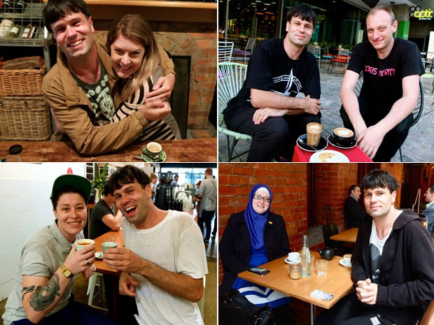 Matt com amigos que encontrou no primeiro mês do projeto (Foto: Matt Kulesza/Arquivo pessoal)