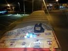 PF apreende caminhão carregado com 700 caixas de cigarros no Paraná