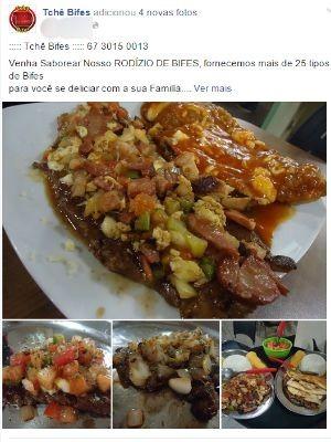 Tchê Bifes oferece 30 tipos de bifes no rodízio  (Foto: Reprodução Facebook)