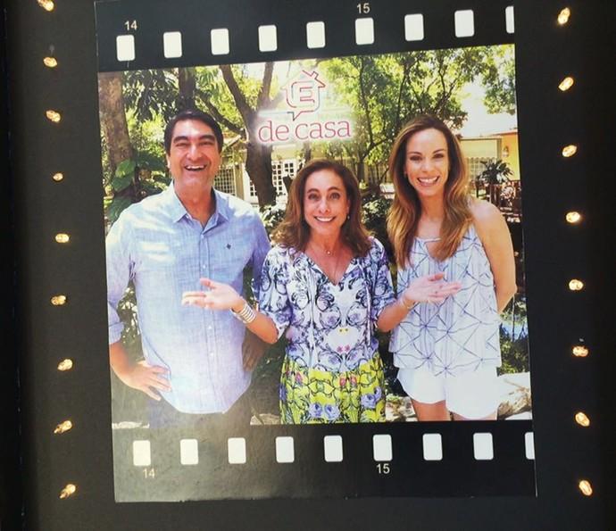 Zeca Camargo, Cissa Guimarães e Ana Furtado em foto do pôster (Foto: Guilherme Toscano/Gshow)