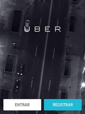 Imagem do aplicativo Uber disponível para ser baixado em smartphones (Foto: Uber/Reprodução)