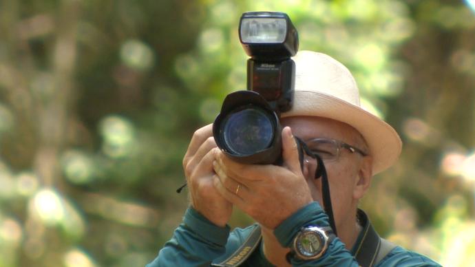 O hobbie de tirar fotos faz parte dos observadores (Foto: Divulgação / TV Gazeta ES)