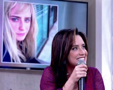 Fernanda Vasconcellos comenta fase loira: 'Cabelo ficou duro'  (TV Globo)