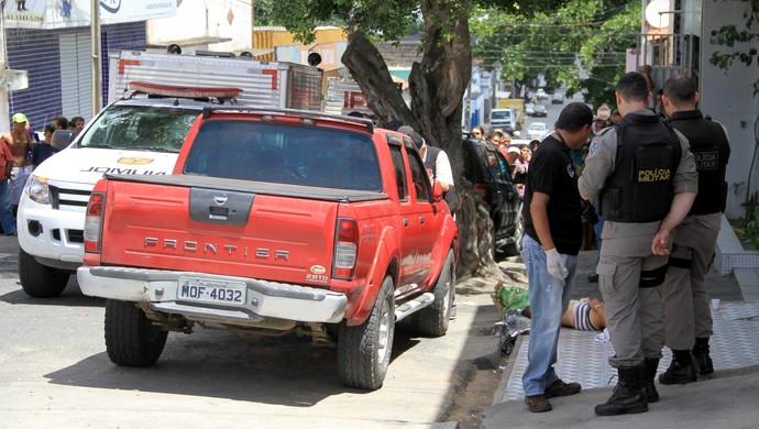 Presidente de torcida organizada do Treze é assassinado em Campina Grande (Foto: Nelsina Vitorino / Jornal da Paraíba)