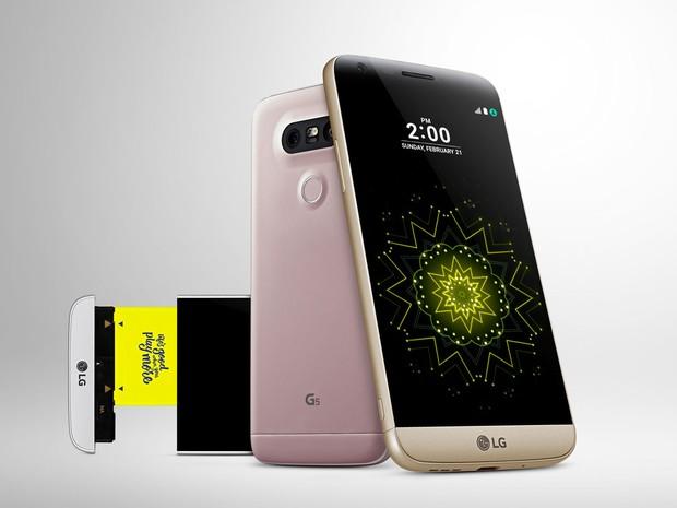 Smartphone G5 da LG. (Foto: Divulgação/LG)