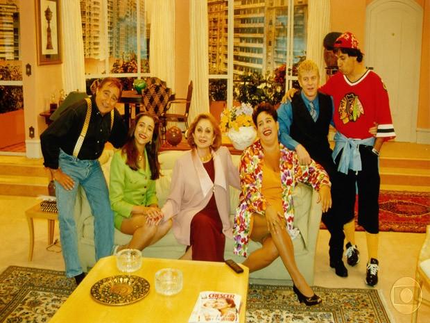 episdio de estreia do humorstico (1996) (Foto: Reproduo TV Globo)