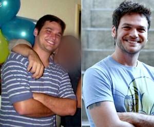 Veja o antes e depois de Emílio Dantas  (Foto: TV Globo)