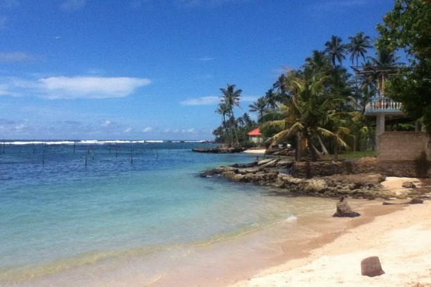 Polhana Beach, uma das águas mais claras do mundo (Foto: Sebastião Rinaldi)