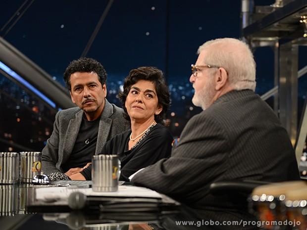 Marcos Palmeira e Betse de Paula participam do Programa do Jô (Foto: TV Globo/Programa do Jô)