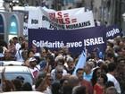 Milhares marcham em Marselha, na França, em apoio a Israel