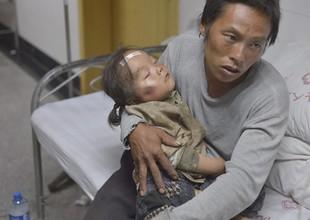 Terremoto, na província de Yunnan, deixou mais de 1400 feridos (Foto: Agência EFE)