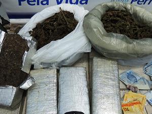 Apreensão de maconha em Garanhuns (Foto: Divulgação/Blog Agreste Violento)