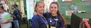 Mãe e filha participam juntas do TEM GAMES em Rio Preto (Bruna Alves/G1)