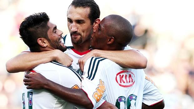 Barcos comemora gol do Palmeiras contra o Botafogo (Foto: Marcos Ribolli / Globoesporte.com)