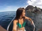 Anna Rita Cerqueira curte últimos dias de férias antes de faculdade