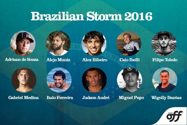 representantes do brazilian storm em 2016