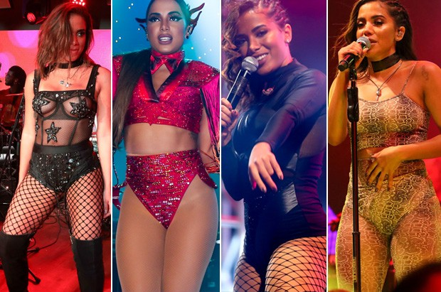 Looks de Anitta nos shows (Foto: Manuela Scarpa/Brail News​ - Thiago Duran/ Ag. News)