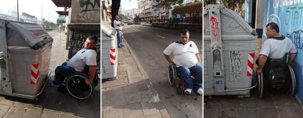 Contêiner Acessibilidade (Foto: Felipe Truda/G1)