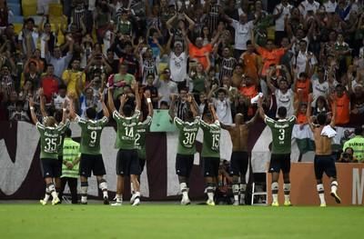 Jogadores gradecem à torcida Fluminense x Cruzeiro Maracanã (Foto: André Durão)