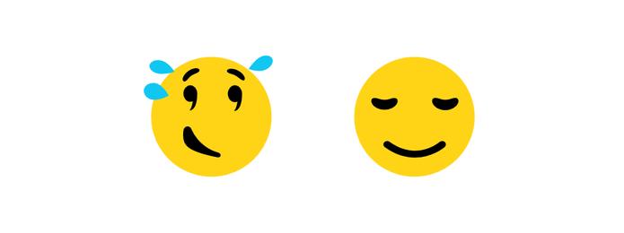 Rosto aliviado ganhou ar mais sereno (Foto: Reprodução/Emojipedia)