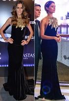 Izabel Goulart e Sophie Charlotte repetem look. Quem vestiu melhor?