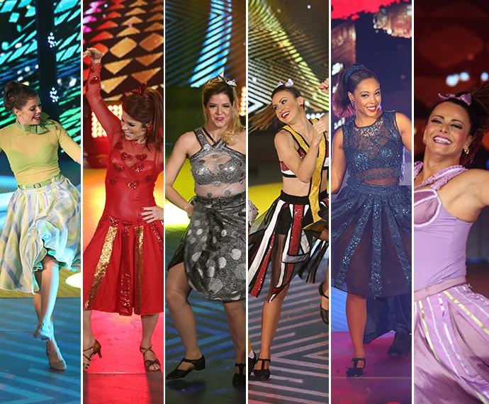 Mulheres dançaram ao som do rock (Foto: Carol Caminha/ Gshow)