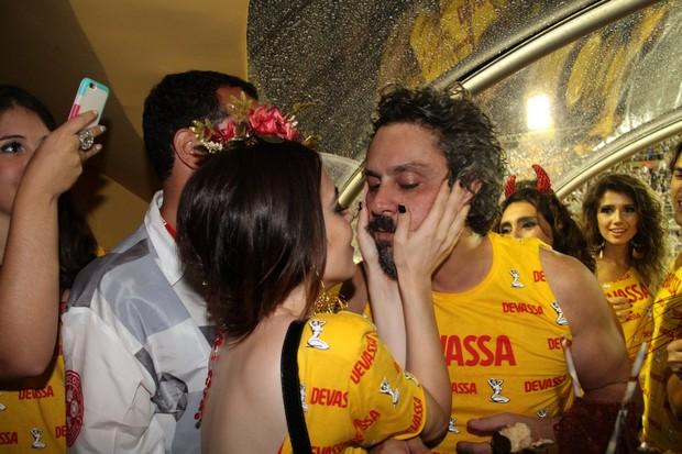 Aniversário Alexandre Nero no camarote da Sapucaí (Foto: Cleomir Tavares/ Divulgação)