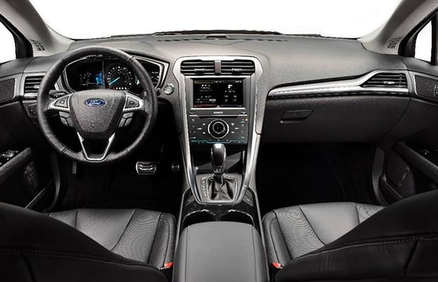 Black Ford Edge 2014 >> Mais caro, Ford Fusion 2015 ganha cinto inflável e bancos refrigerados - AUTO ESPORTE | Notícias