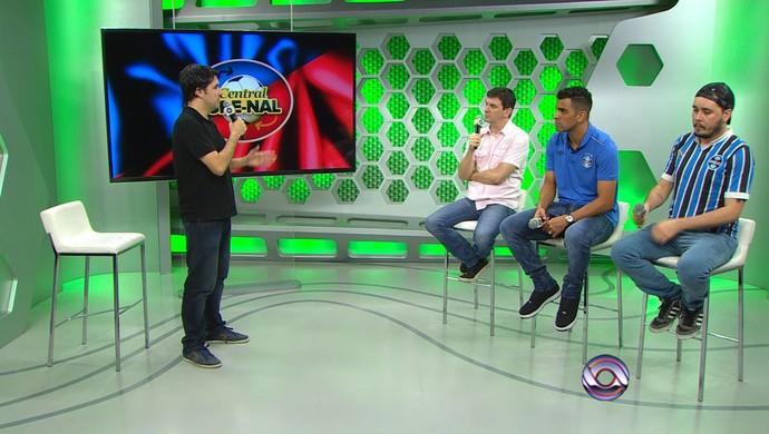 Central Gre-Nal Rodrigo Adams Diego Guichard Maicon Gre-Nal 407 Diogo Olivier (Foto: Reprodução/RBS TV)