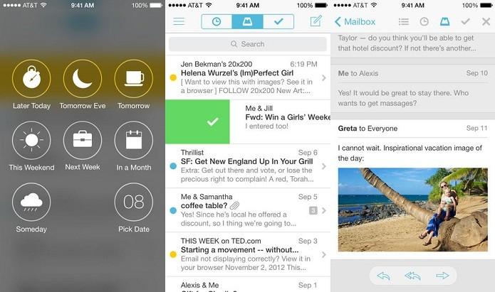 Mailbox está mais inteligente e aprende seus hábitos (Foto: Divulgação/AppStore)