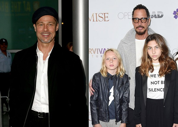 Brad Pitt / Chris Cornell e os filhos (Foto: Getty Images)