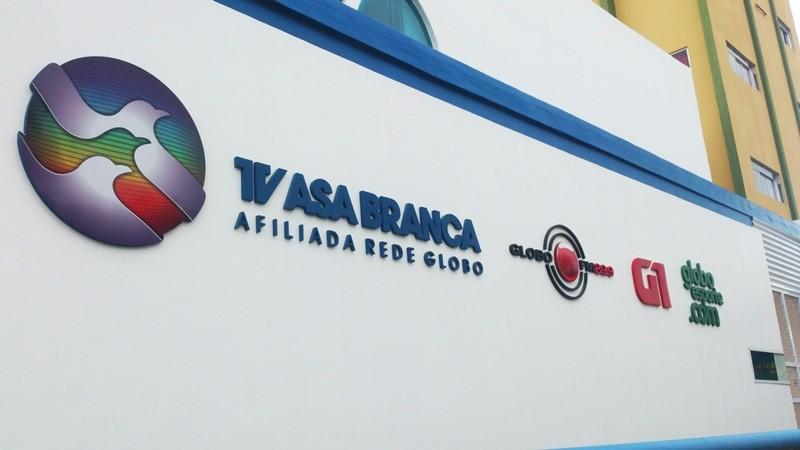 Fachada da TV Asa Branca (Foto: Marketing / TV Asa Branca)