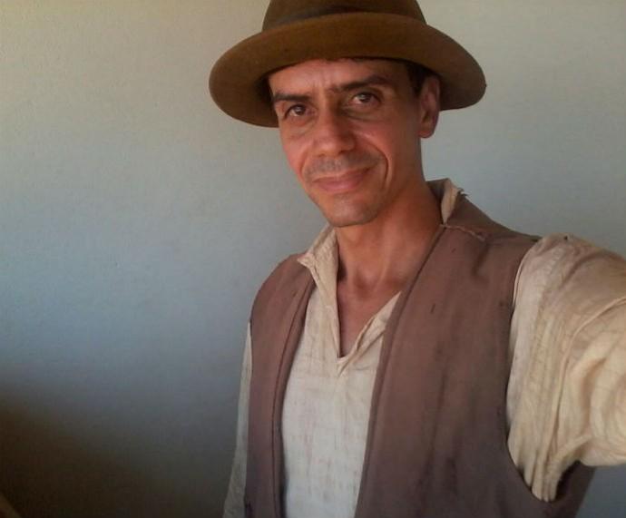 Gedilson caracterizado de Isaias para a novela Velho Chico  (Foto: Arquivo pessoal )