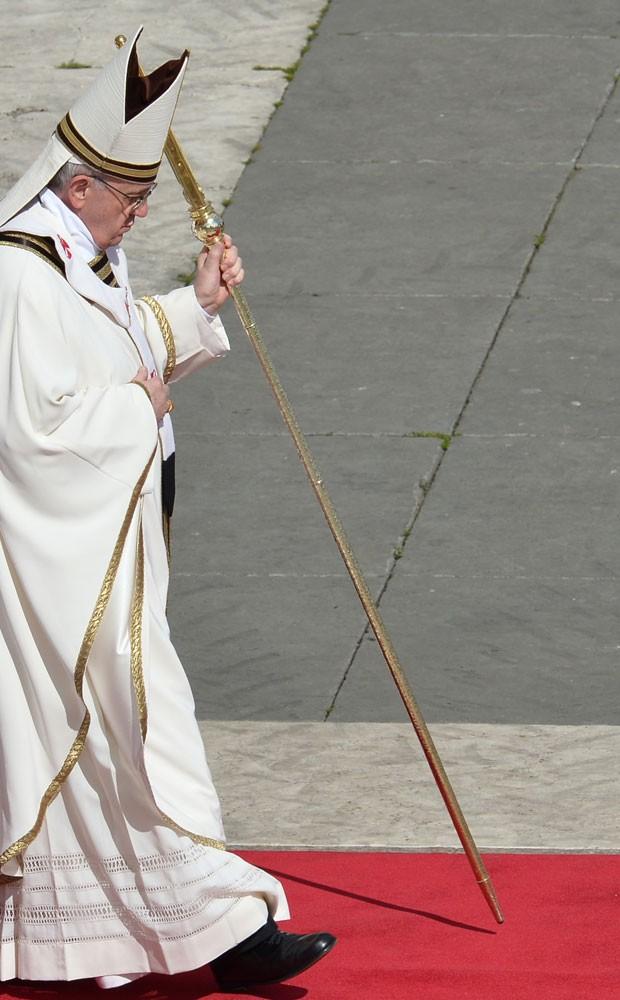 Papa Francisco sapatos pretos (Foto: Alberto Pizzoli/AFP )