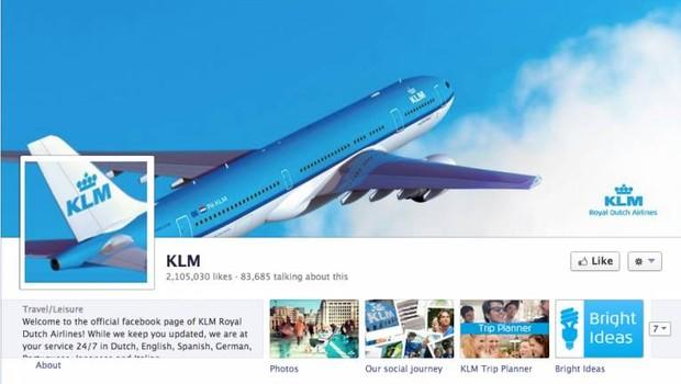 Facebook: KLM (Foto: reprodução / internet)