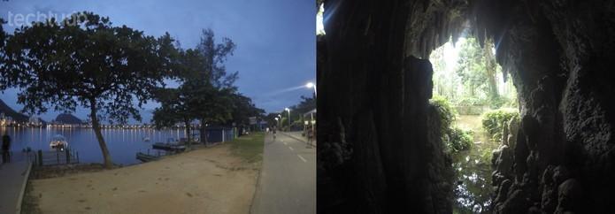Fotos tiradas com a câmera em ambiente noturno  (Foto: Luciana Maline/TechTudo)