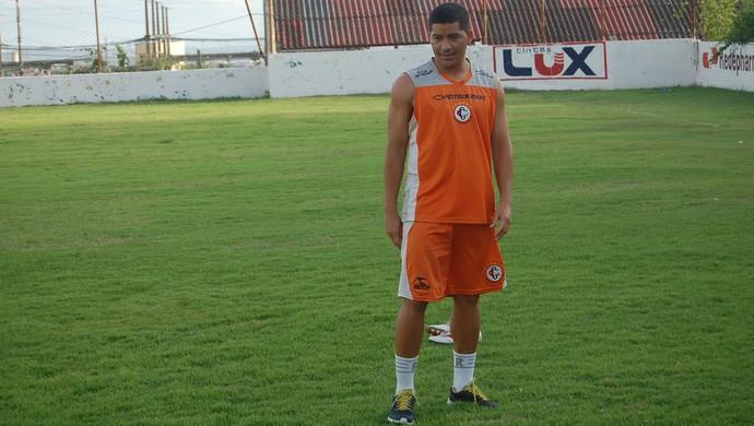 André Tavares, atacante do Campinense  (Foto: Silas Batista / GloboEsporte.com)