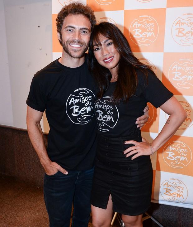 O casal Danni Suzuki e Fernando Roncato (Foto: Francisco Cepeda/AgNews)
