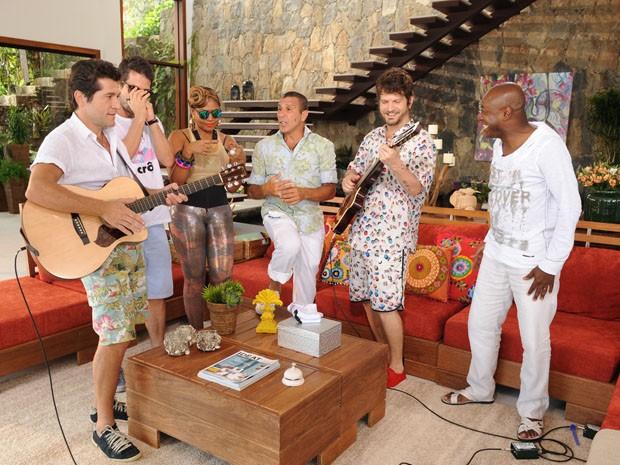 Convidados da rainha fazem muita música nas férias do TV Xuxa (Foto: TV Globo/Blad Meneghel)