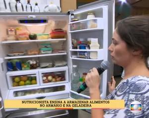 Nutricionista ensina a armazenar alimentos (Foto: TV Globo)